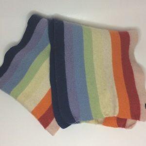 GAP Angora Wool Muted Rainbow Long Scarf